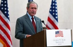 George W. Bush Speaks At Naturalization Ceremony At Bush Presidential Center